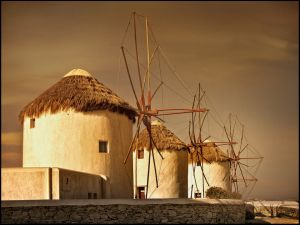 Mykonos Windmills by Astrid Claase