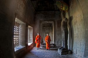 The Monks in Angkot Wat by Danny Yen Sin Wong PPSA ARPS
