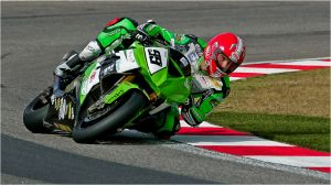 WSBK Rider in Green by Andre Serfontein
