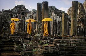 Cambodian Buddhist Monks at Temple by Wendy Geddes AFIAP AAPS