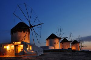 Windmills of Mykonos by Peter Hammer FAPS