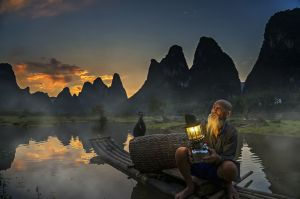 Li River Fisherman Lighting by Sio Hong Fong AFIAP UPICr2