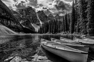 Moraine in Monochrome by Kristin Repsher