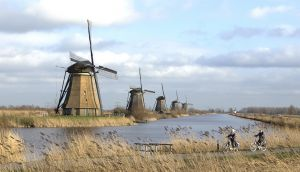 Kinderdijk Cyclists by Jozef Aerts MFIAP EFIAP/p GMPSA FPSA