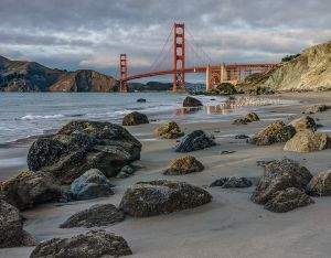 Sunset at the Golden Gate by Marvin Miller EPSA