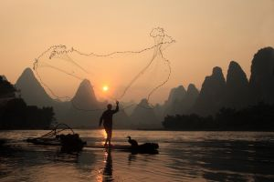 Li River at Dusk by Kam Tec Kong