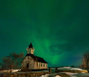 Thingvellir Aurora by Richard Bingham ARPS EFIAP