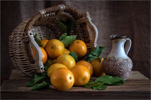 QIDC HM - Basket of Oranges by Diane Murphy