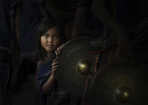 QIDC HM - A Little Girl in the Gong Festival by Bui Khanh Hoa