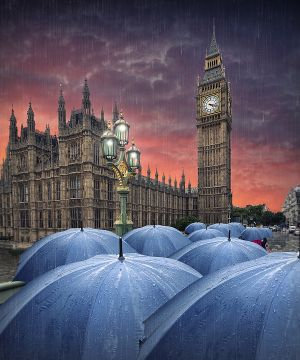 PSA Gold (BOS) Rainy Day in London by Adrian Donoghue